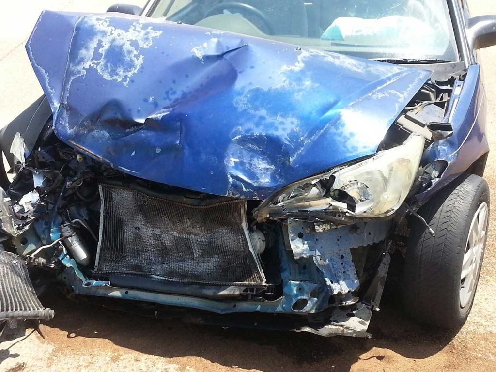 collision damaged car 1